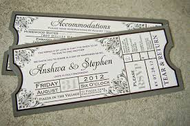 ticket wedding invitations plumegiant