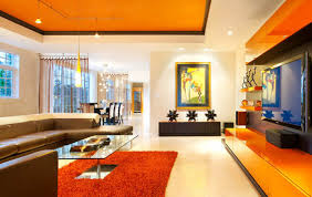 Blue Living Room Walls by Adorable 80 Blue And Orange Living Room Ideas Design Ideas Of 15
