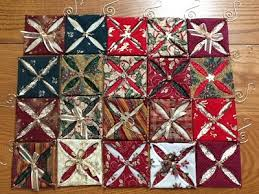 folded fabric ornaments 4funcreativity