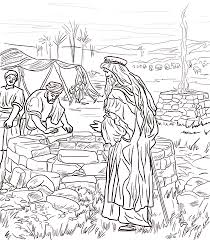 abraham and isaac coloring page isaac digs a well coloring page from isaac and rebekah category