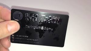 a satin black plastic business card youtube