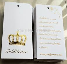Crown Business Cards Aliexpress Com Buy Golden Stamping Hang Tag Clothing Customized