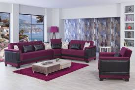 seasons sectional sofa bed in burgundy by casamode w option