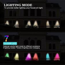color changing outdoor lights rgb led lights 7 color changing wireless waterproof motion sensor