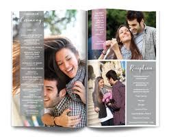 magazine wedding programs unique wedding program ideas wedding magazine programs let us
