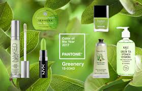 how to use pantone colour of the year greenery in makeup and beauty