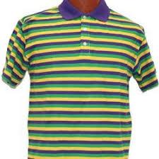 mardi gras polo shirt mardi gras style t shirt w sleeve collar medium size