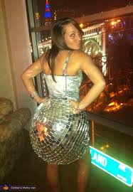 Disco Dancer Halloween Costume Disco Ball Homemade Halloween Costume