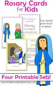 rosary for kids printable rosary cards for saying a family rosary
