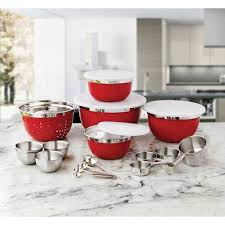 Red Kitchen Set - better homes and garden 21 piece stainless steel mix and measure