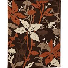 home decorators area rugs home decorators collection blooming flowers brown rust 9 ft 3 in