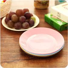 assiette cuisine 1 pc cuisine vaisselle colorée en plastique plaques petit plat