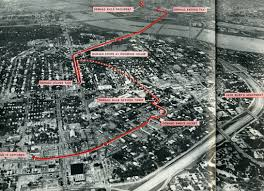 Map Of Downtown Dallas by Jfk Oswald Superman Magic Route