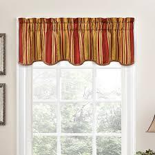 Orange Kitchen Curtains Sale Striped Valances U0026 Kitchen Curtains You U0027ll Love Wayfair