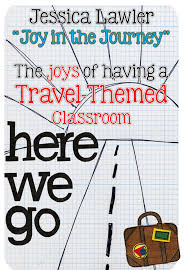a travel themed classroom joy in the journey