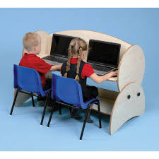 Blue Computer Desk children u0027s computer desks nursery primary computer