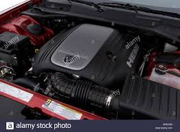engine for 2007 dodge charger 2007 dodge charger r t in engine stock photo royalty free