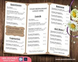 menu template food menu template brochure templates creative market