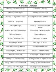 Party Games For Christmas Adults - christmas charades family christmas party game charades