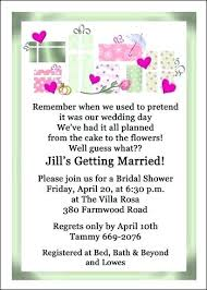 couples wedding shower invitation wording wedding shower invitation wording 3124 also bridal shower