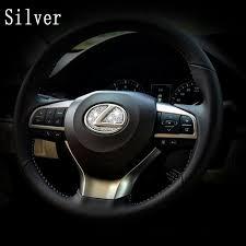 lexus emblem aliexpress com buy dsycar zinc alloy car teering wheel stickers