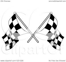 Checkered Racing Flags Clipart Of Crossed Checkered Racing Flags Royalty Free Vector