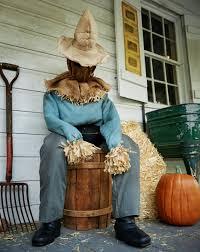 scary scarecrow halloween costume scary animatronic sitting scarecrow the green head