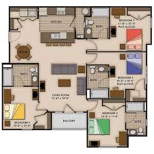 four bedroom 2 3 and 4 bedroom apartment floor plans capstone quarters