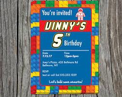 lego birthday invite etsy