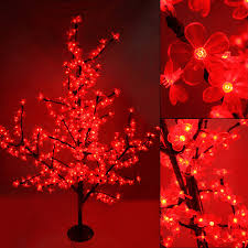 led light tree branches 1 5m waterproof led cherry blossom crystal tree night lights