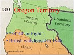 map of oregon country 1846 western expansion
