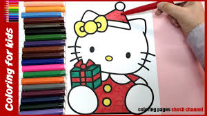 christmas hello kitty colouring pages from coloring pages shosh