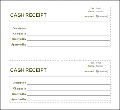 blank money and cash receipt template helloalive