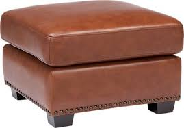 brown leather ottomans storage coffee table etc