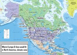North America Country Map by If Europe U0026 Asia Were In North America Where Would The Countries