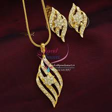 necklace pendant design gold images Pe8272 delicate two tone gold design pendant earrings fancy chain set jpg