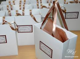 personalized wedding welcome bags custom wedding welcome bags with satin ribbon and tag
