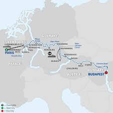 Map Of European Rivers by Danube River Cruise Avalon Waterways