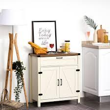 white storage cabinet for kitchen homcom industrial wooden storage cabinet kitchen sideboard