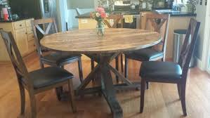 round farmhouse dining table kitchen dining wooden whale workshop