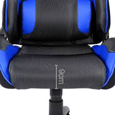 executive racing style swivel gaming chair in black red for