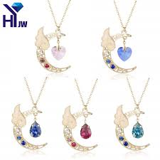 crystal chain necklace images Heyu japan sailor moon card captor kinomoto cute moon star angel jpg