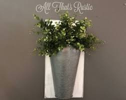 Tin Flower Vases Wall Vase Etsy