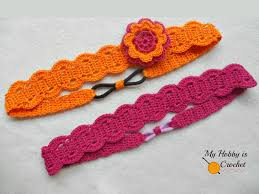 crochet hair bands my hobby is crochet thread headband free crochet pattern with