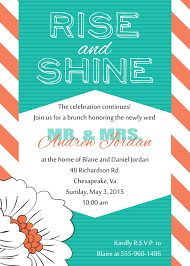 after wedding brunch invitation wording rise and shine brunch invitation post wedding brunch