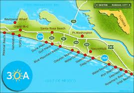 Panama City Map 30a Map My Blog