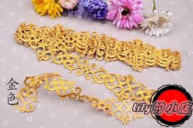 gold lace ribbon 5cm lace ribbon trim embroidered gold lace trim silvery lace