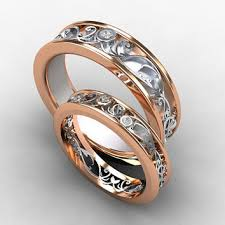 white gold wedding band sets shop gold filigree wedding band on wanelo