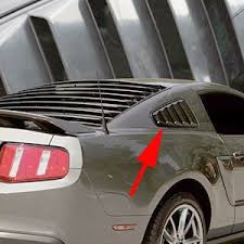 mustang louver mustang base gt model abs molded rear qtr unpainted window