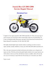 28 2002 suzuki rm 125 repair manual 39869 my 1996 suzuki